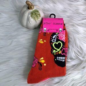Betsey Johnson Halloween 3Pk Crew Socks